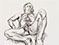 "Lucian Freud ""Naked Man on a Bed"" 1990 Etching (ed of 40) 29.8cmx29.8cm"